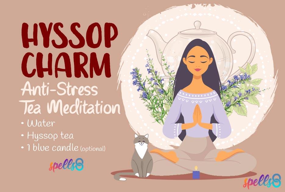 'Hyssop Charm': Magic Anti-Stress Tea Spell