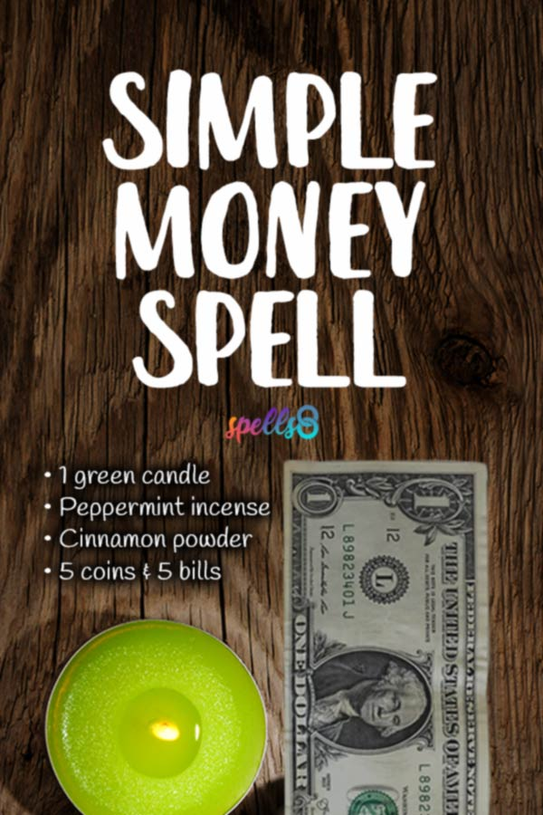 Simple Money Spell with Green Candle- Spells8