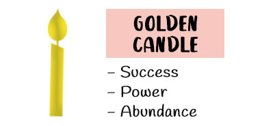 Golden candle meaning spells