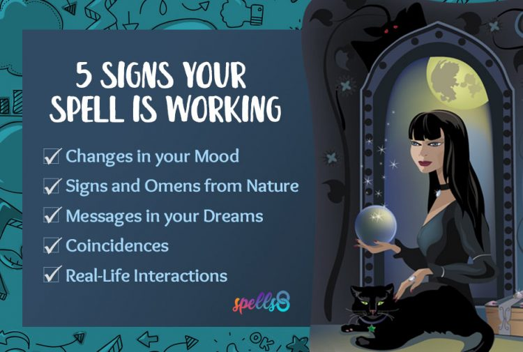 Signs your spell is working