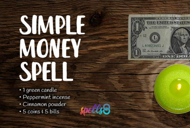 Simple Money Spell with Green Candle