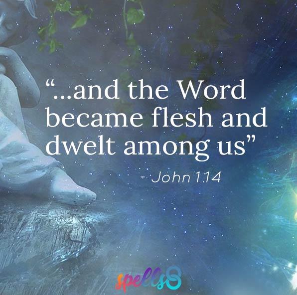 """""""and the Word became flesh and dwelt among us"""" John 1.14"""