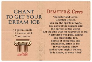 Wiccan Chant to find a Dream Job
