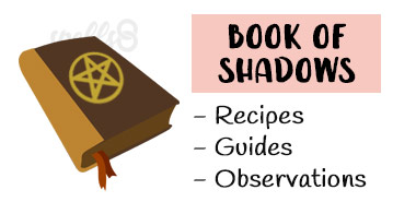 Wiccan Book of Shadows altar