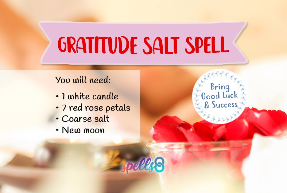 Gratitude Salt Spell: Attract More Good Luck in the New Moon