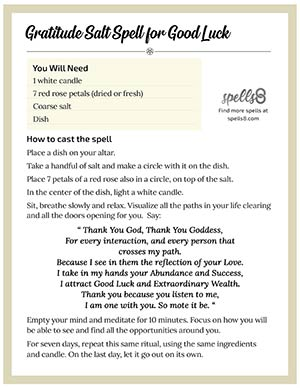 Wiccan New Moon Good Luck Spell