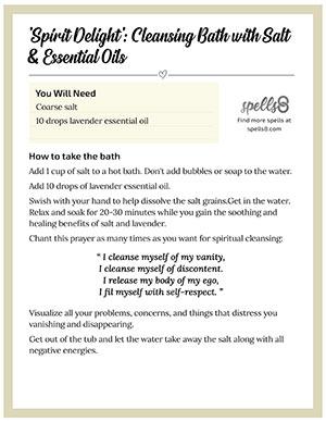 Print it: Spiritual Bath with Salt
