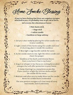 Home Spiritual Cleansing Spell