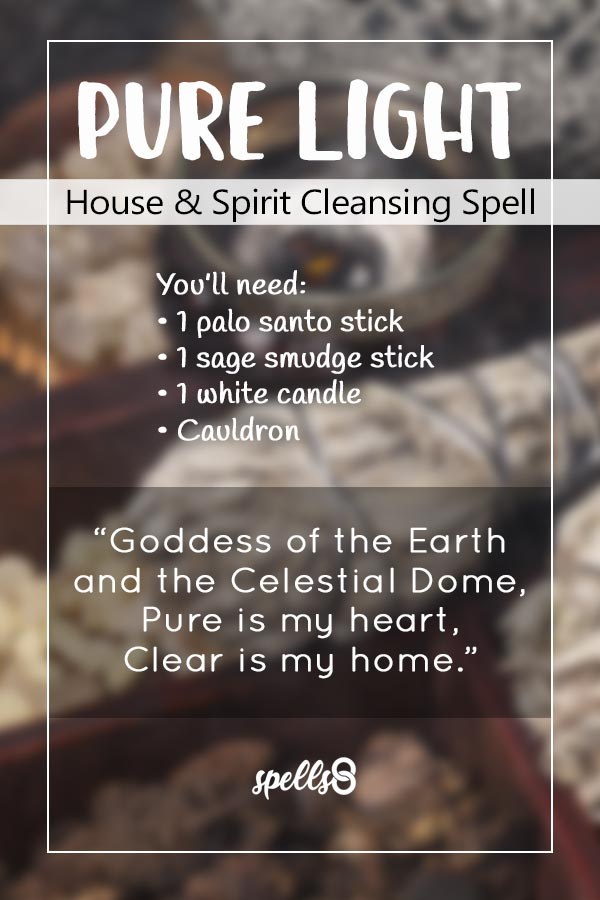 'Pure Light': House & Spirit Cleansing Spell