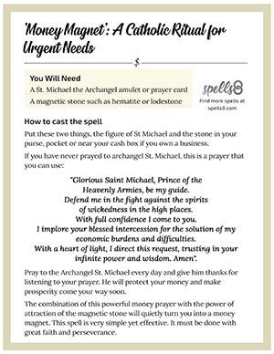 Print it: 'Money Magnet' A Catholic Ritual