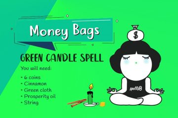 Powerful Money Spell with Green Candle and Cinnamon