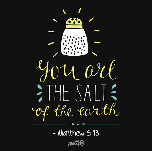 """You are the Salt of the Earth"" - Matthew 5:13"