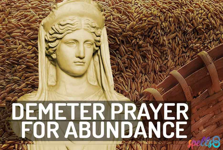 Demeter Prayer Wiccan Devotional
