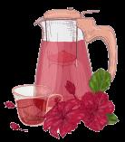 Hibiscus tea daily ritual