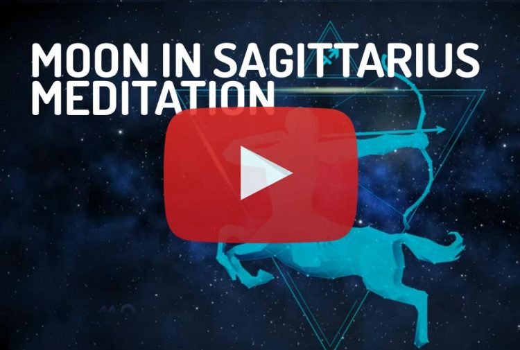 Moon in Saggitarius Zodiac Meditation