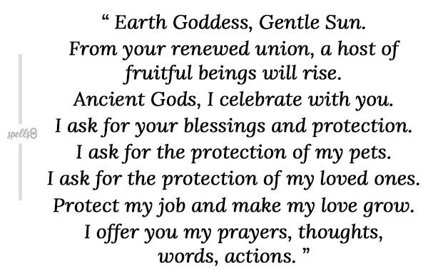 Beltane prayer