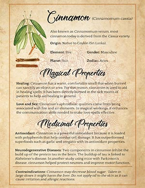 Cinnamon Magical Uses