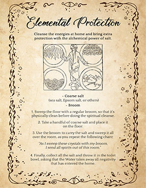 Elemental Protection. Home cleansing spell with Salt