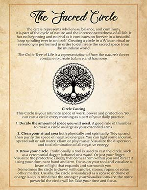 Sacred Circle Wicca Book of Shadows Page