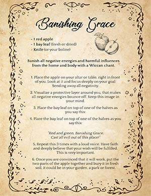 Wiccan Banishing Spell Recipe