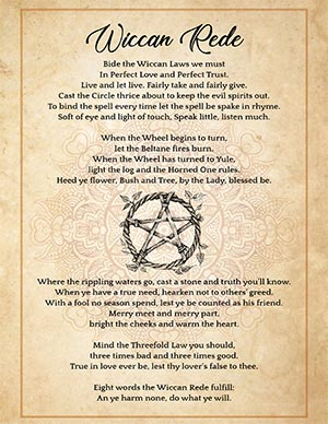 Wiccan Rede Printable Page