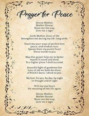 Wiccan prayer for peace