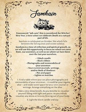 Samhain Solitary Ritual