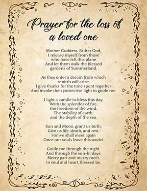 Wiccan Prayer For A Dead Pet