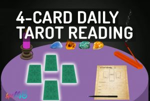 4-Card quick Daily Tarot Spread