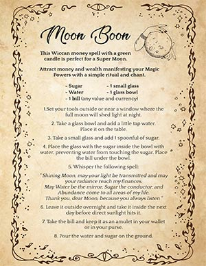 Wiccan chant to attract money
