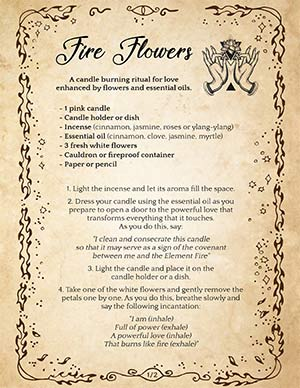 Fire Flowers Wiccan Love Spell
