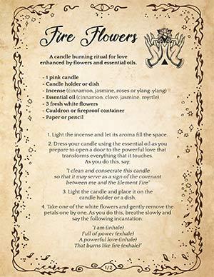 Fire Flowers Wiccan Love Spell