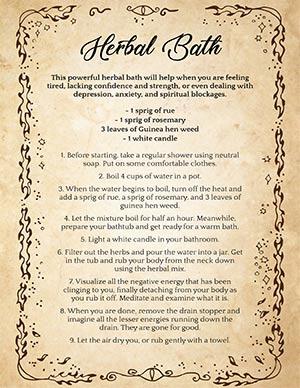 Herbal Aura Cleansing Spiritual Bath