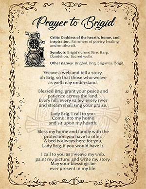 Printable Prayer to Brigid