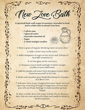 Bath Spiritual Cleanse for Love