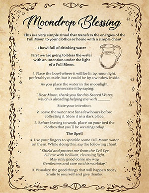 Full Moon Water Spell Recipe