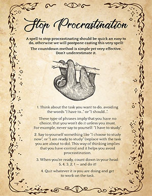Spell for Procrastination