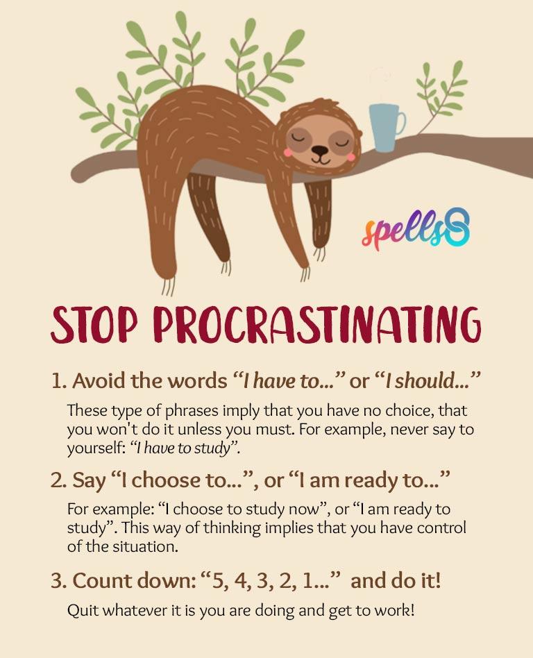 Spell to Stop Procrastinating