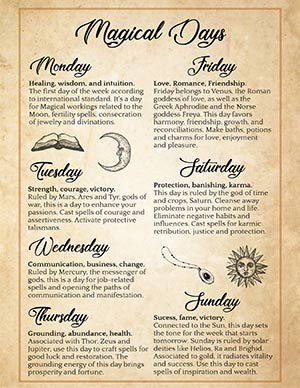 Magical Days of the Week