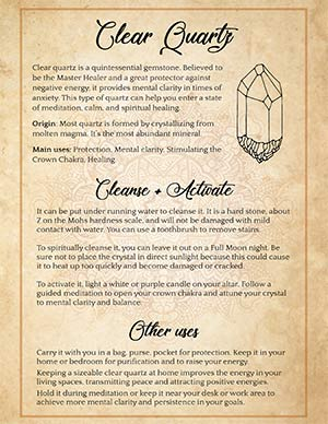 Clear Quartz Activation and Spiritual Uses