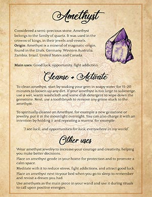 How to spiritually cleanse an Amethyst