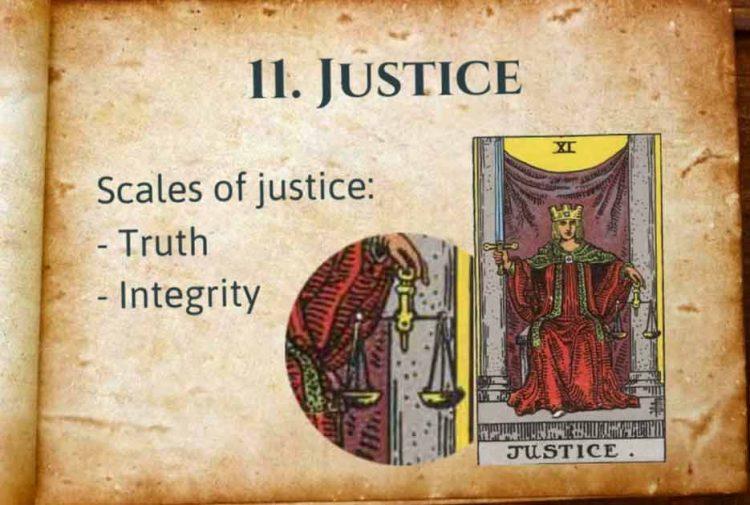 Justice Tarot Lesson