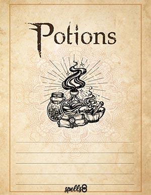 Potions Spells Page