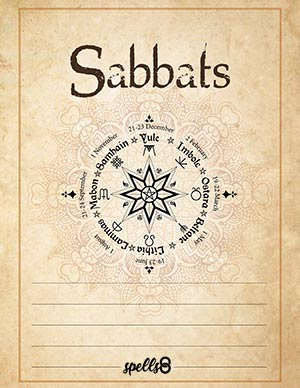 Sabbats Grimoire Page