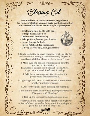 Blessing and Anoiting Oil Recipe
