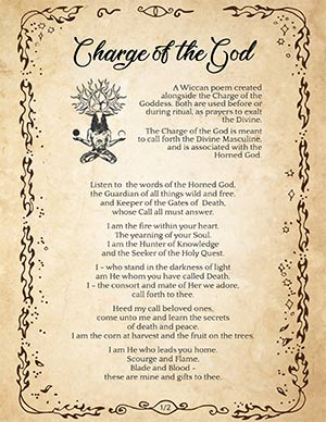 Charge of the God Wiccan Poem