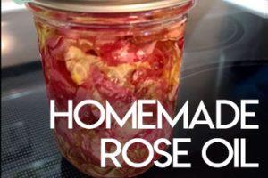 Homemade Rose Oil