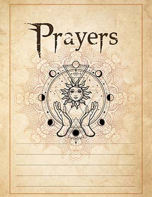 Prayers Printable page for a Grimoire PDF