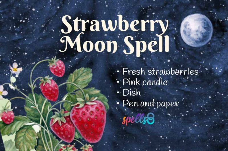 Strawberry Full Moon Love Spell