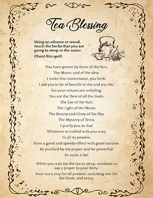 Tea Blessing Wiccan Prayer